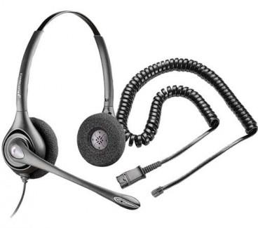 Plantronics H261N SupraPlus Binaural Noise-Canceling Headset with RJ9 Adapter