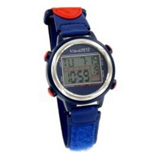 VibraLITE 12 VL12VRB Vibrating Watch Blue Red w/ Hook & Loop WristBand