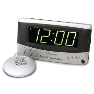 Sonic Alert SBR350ss Loud Alarm Clock AM/FM Radio