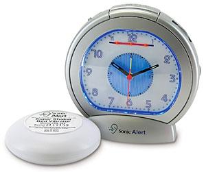 Sonic Alert SBA475SS Analog Alarm Clock w/Shaker