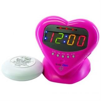 Sonic Alert SBH400SS Sweetheart Alarm Clock w/Shaker