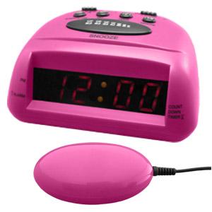 Global 360 Alarm Clock Pink